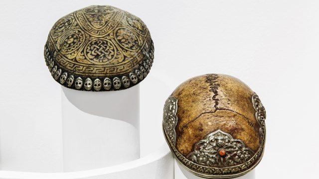 Tibet verzierte Schädelkalotten